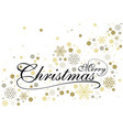 merry christmas with gold glittering design vector image