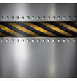 Metal warning background vector image vector image