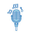 microphone note music sound equipment festival vector image vector image