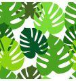 monster leaves pattern vector image vector image