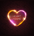 night club 3d pink neon heart realistic sign vector image vector image
