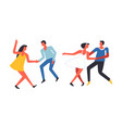 party people having fun and dancing together vector image vector image