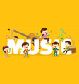 play music concept vector image vector image