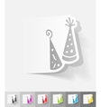 realistic design element Party Hat vector image vector image
