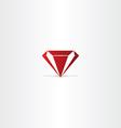 red diamond gem icon vector image