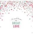 Romantic pink and blue heart background