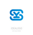 s and y logo ys - design element or icon initial vector image vector image