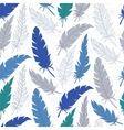 Seamless background vintage colored feathers vector image vector image