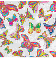 seamless color butterflies vector image vector image