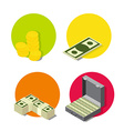 set money icons vector image