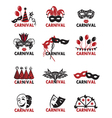 set of carnival logos vector image