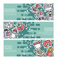 set of horizontal banners about motherhood vector image vector image