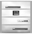 Set of modern banners Halftone background vector image