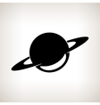 Silhouette planet Saturn on a light background vector image vector image