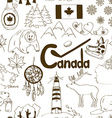 Sketch Canada seamless pattern vector image