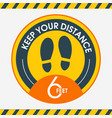 social distanceplease keep your distance stay 6 vector image vector image
