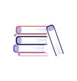 stack of paper books with hardcover lying on some vector image vector image