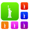 statue of liberty set collection vector image vector image