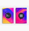 Summer wavy geometric poster design fluid banner