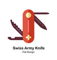 swiss army knife flat icon vector image