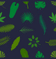 tropical palm leaves green silhouettes seamless vector image vector image