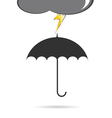 umbrella with lightning vector image vector image