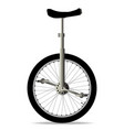 unicycle on white vector image