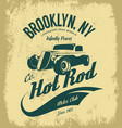 vintage hot rod logo concept isolated on vector image vector image