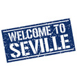 welcome to seville stamp vector image vector image