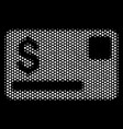 white halftone credit card icon vector image vector image