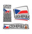logo for czech republic vector image