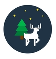 Deer flat style vector image