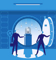 bank vault concept vector image vector image