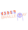 banne world braille day vector image vector image