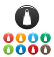 barber apron icons set color vector image