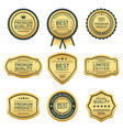 best quality product badges and labels vector image vector image