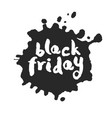 black friday inside inky blot vector image