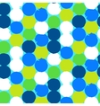 Bold geometric pattern with circles vector image vector image