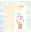 Cafe menu template with hand drawn ice cream vector image vector image