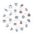 charity sponsorshipdonation and donor icons in vector image vector image