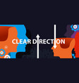 clear direction concept of leadership head vector image vector image