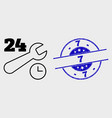 contour 24-7 repair service icon and vector image vector image
