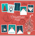 cute christmas stamps vector image