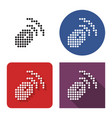 dotted icon wireless mouse in four variants vector image vector image