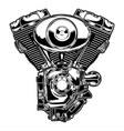 engine twin motorbike motor speed vector image vector image