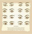 female eyes vintage poster design vector image vector image