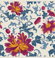 floral pattern flower seamless background vector image vector image