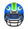 Football helmet with horseshoe vector image vector image