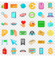 gadget icons set cartoon style vector image vector image