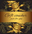 gift voucher flower silhouettes vector image vector image